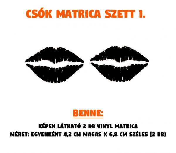 csók matrica szett 01