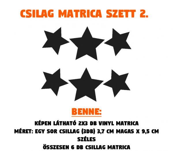 csillag matrica szett 02