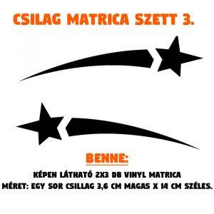 csillag matrica szett 03