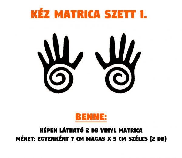 kéz matrica szett 01