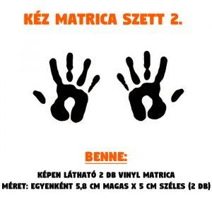 kéz matrica szett 02
