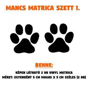 mancs matrica szett 01