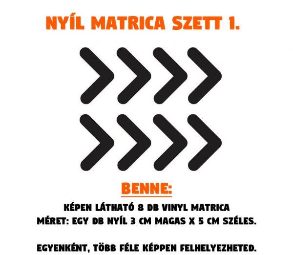 nyíl matrica szett 01