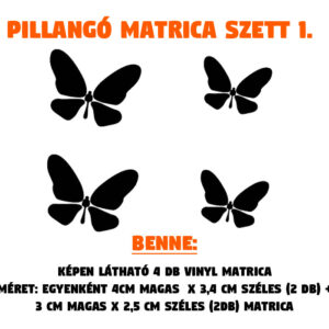 pillangó matrica szett 01
