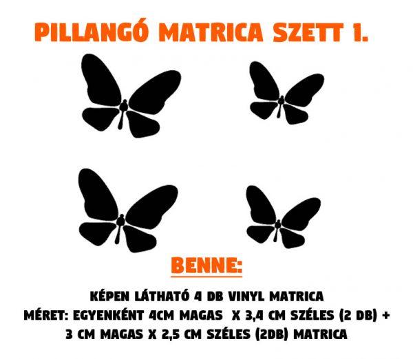 pillangó matrica szett 01