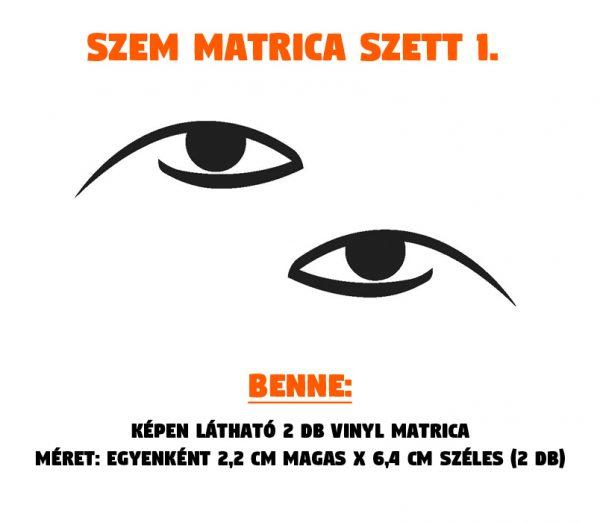 szem matrica szett 01