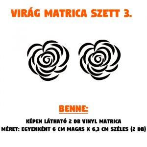 rózsa matrica szett 1