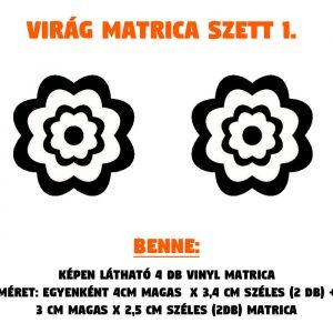 virág matrica szett 1