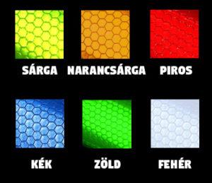 fényvisszaverő vastag szinek