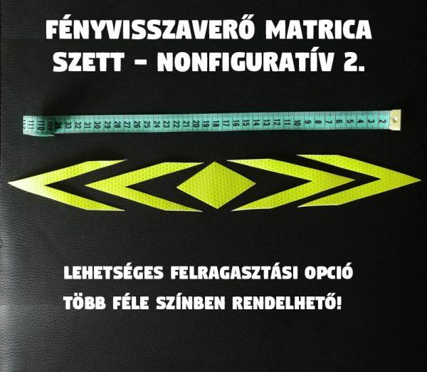 fényvisszaverő nonfoguratív minta 2. matrica szett 01
