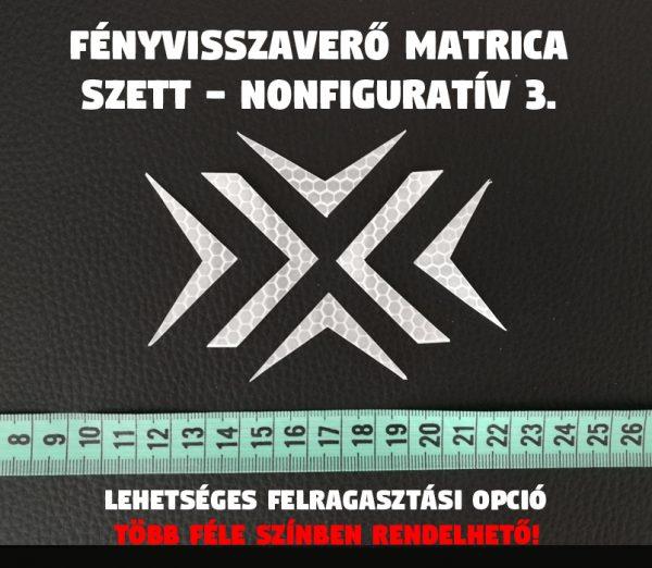 fényvisszaverő nonfoguratív minta 3. matrica szett 02