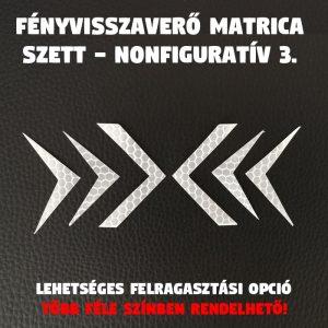 fényvisszaverő nonfoguratív minta 3. matrica szett 04