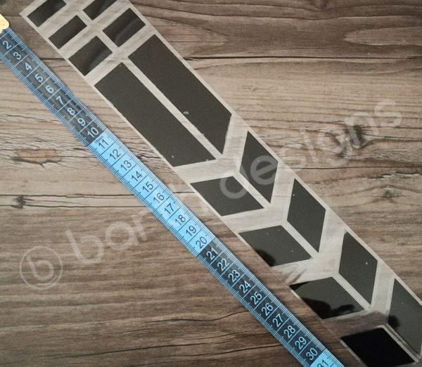35 cm-es szaggatott csík fényvisszaverő matrica 3
