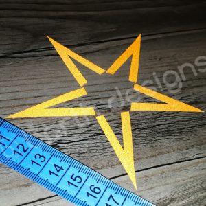 4 vagy 5 ágú csillag fényvisszaverő matrica 1