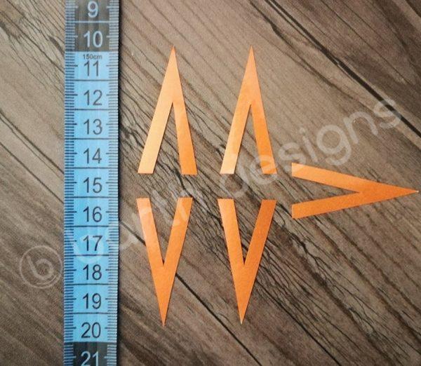 4 vagy 5 ágú csillag fényvisszaverő matrica 3