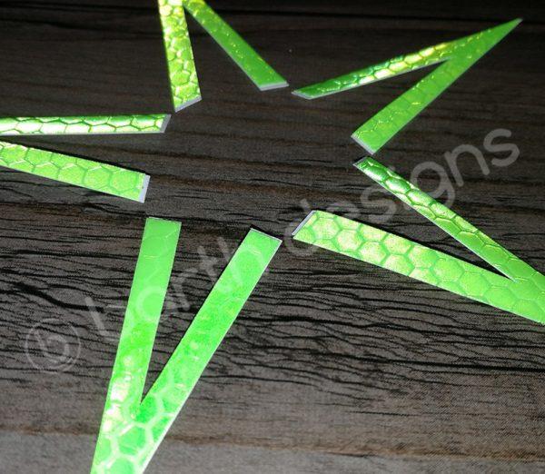 4 vagy 5 ágú csillag fényvisszaverő matrica erős 1