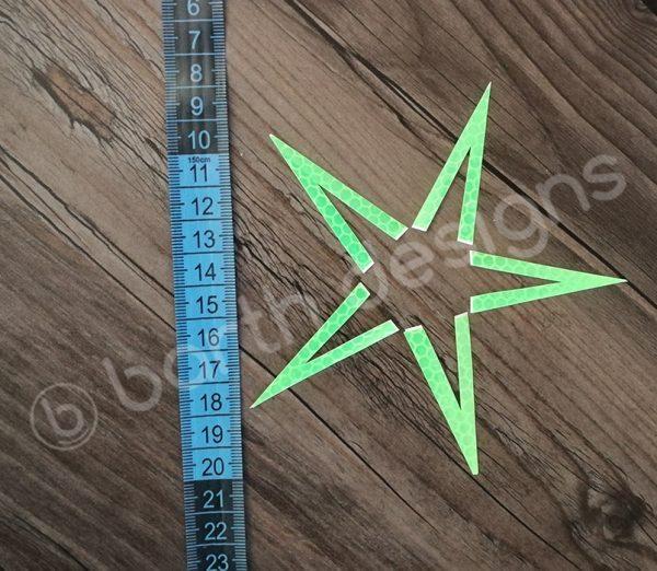 4 vagy 5 ágú csillag fényvisszaverő matrica erős 2