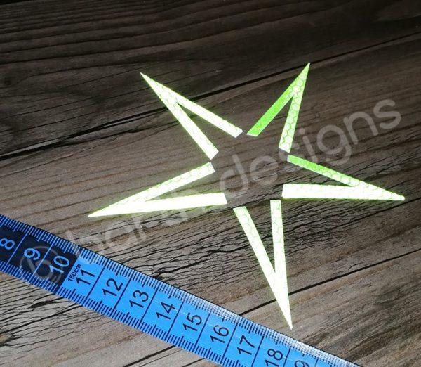 4 vagy 5 ágú csillag fényvisszaverő matrica erős 3