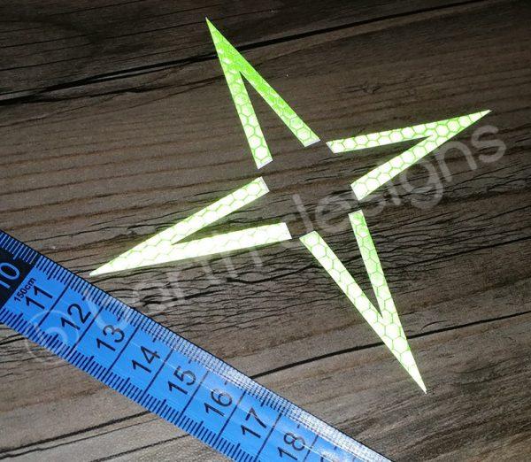 4 vagy 5 ágú csillag fényvisszaverő matrica erős 4