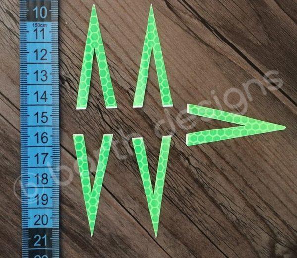 4 vagy 5 ágú csillag fényvisszaverő matrica erős 5