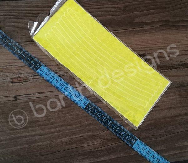 8 db 22 cm-es fényvisszaverő csík sárga 2