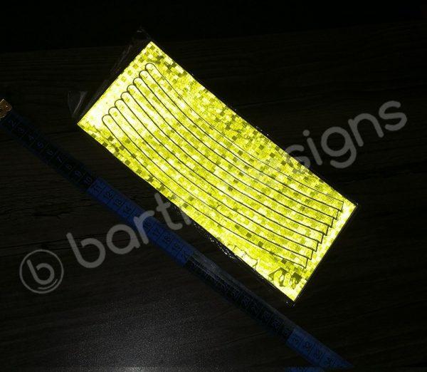8 db 22 cm-es fényvisszaverő csík sárga