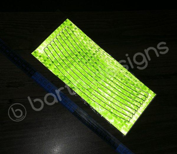 8 db 22 cm-es fényvisszaverő csík zöld