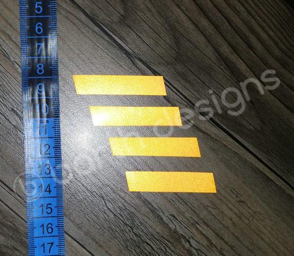 ferde csíkok 1 cm fényvisszaverő matrica 1