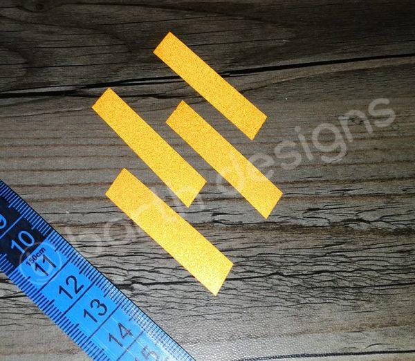 ferde csíkok 1 cm fényvisszaverő matrica 2