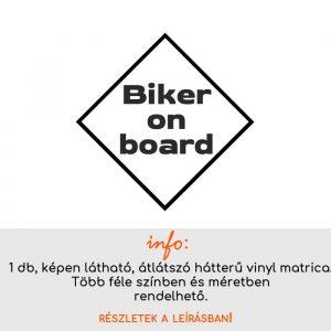 Biker on board felirat 2.