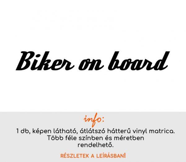 Biker on board felirat matrica 4.