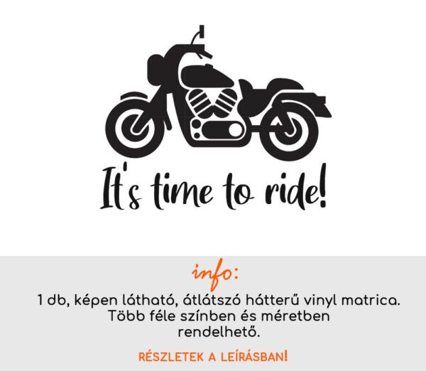 It's time to ride matrica
