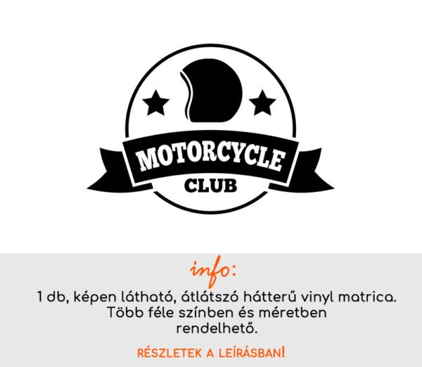 Motorcycle club matrica