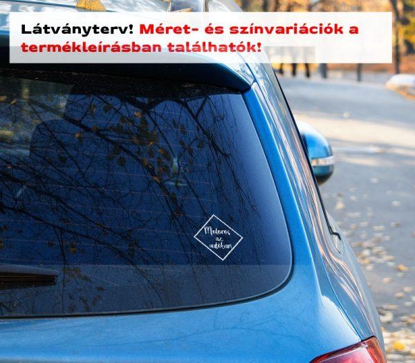 Motoros az autóban felirat 1. látványterv szélvédő