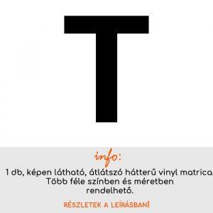 Több színben és méretben T betű matrica 2.