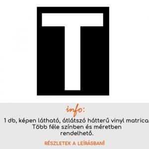 Több színben és méretben T betű matrica 3.