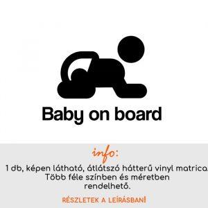 több méretben és színben Baby on board matrica 11.