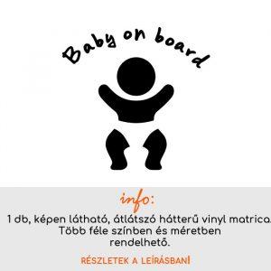 több méretben és színben Baby on board matrica 12.