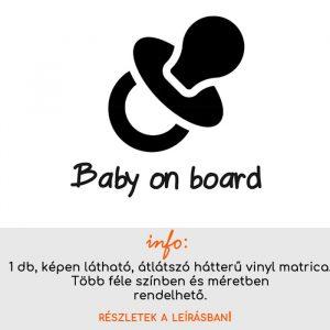több méretben és színben Baby on board matrica 3.