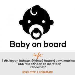 több méretben és színben Baby on board matrica 6.
