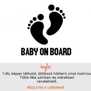 több méretben és színben Baby on board matrica 7.