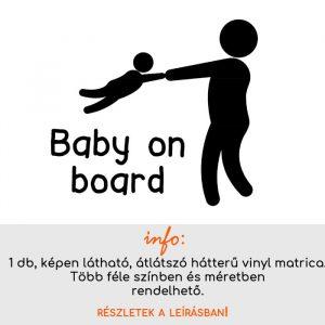 több méretben és színben Baby on board matrica 8.