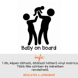 több méretben és színben Baby on board matrica 9.