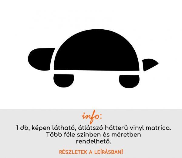 több színben és méretben fürdőszoba csempematrica teknős