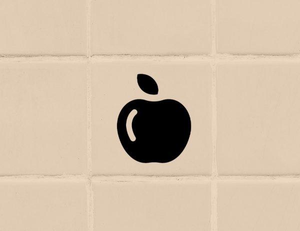 több színben és méretben konyhai csempematrica alma matrica látványterv