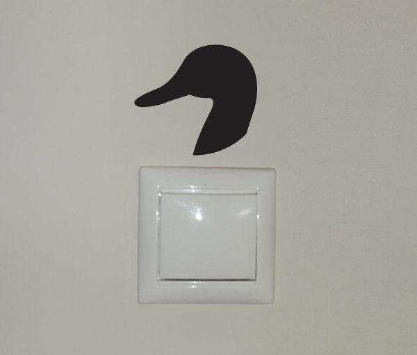 Liba matrica, villanykapcsoló matrica, állatos matrica látványterv 2