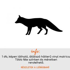 Róka matrica 1., villanykapcsoló matrica, állatos matrica