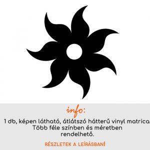 Több méretben és színben virág matrica 10, csempematrica, villanykapcsoló matrica, laptop matrica, hűtő matrica