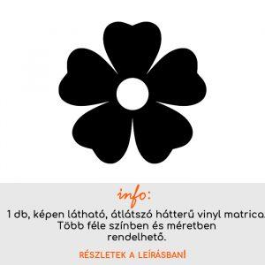 Több méretben és színben virág matrica 3., csempematrica, villanykapcsoló matrica, laptop matrica, hűtő matrica, autómatrica