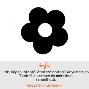Több méretben és színben virág matrica 4., csempematrica, villanykapcsoló matrica, laptop matrica, hűtő matrica, autómatrica